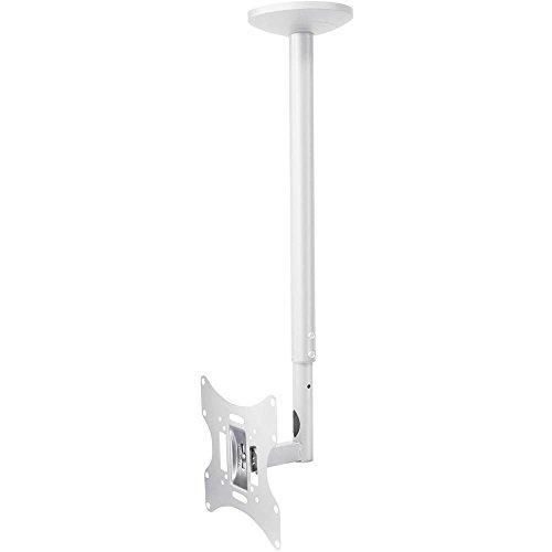 mywall HL4-2WL höhenverstellbare Deckenhalterung für Flachbildschirme, 23-42 Zoll (58-107cm), bis 30Kg weiß