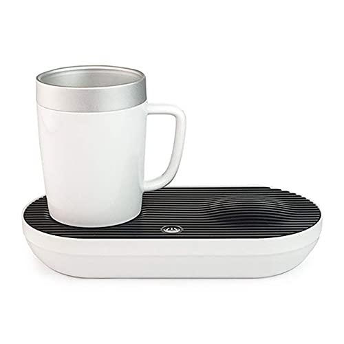 BaoYPP Enfriador de Botellas Electrónico Calefacción Rápida Y Calefacción De Coaster De Enfriamiento Y Enfriamiento De La Oficina En Casa Fácil de Cargar (Color : White, Size : 380ml)