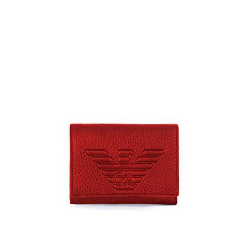 Portafoglio Piccolo Rosso Rubino Emporio Armani Donna Fw 2019