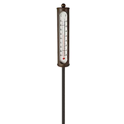 Garten-Thermometer im Antik-Stil mit Erdstab aus Metall