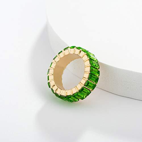 ACHICOO Bague élégante en alliage et diamant - Couleur : vert pomme