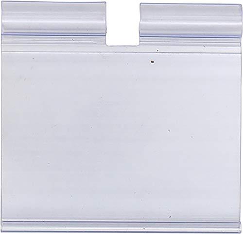 BGS 89924 | Etikettentasche, Kunststoff | 52 x 40 mm | transparent | Pendeltaschen für Lochwandhaken, Zweifachhaken