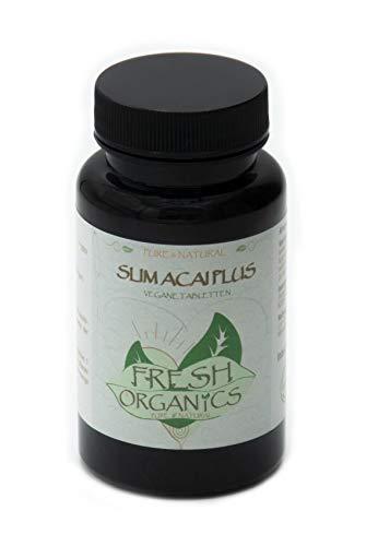 Slim Acai Berry | 120 vegane Tabletten | 6000mg Tagesportion | Für 40 Tage | Reines Extrakt, Detox, Fettverbrennung, Gewichtsreduktion, Stoffwechsel-Diät, Entschlackung | Premium Qualität (120)