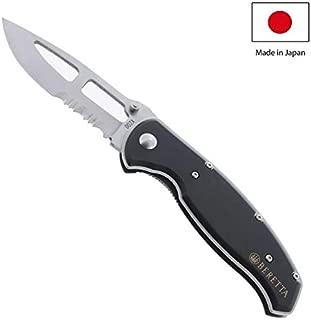 Beretta Air Light II Aluminum Knife with Medium/Serrated Edge, Black