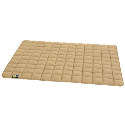 Dalstra Bequeme Hundedecke waschbar, Allergiker geeignet, robuste Hundematte beige, Hundedecke Größe M 80 x 60 x 2 cm