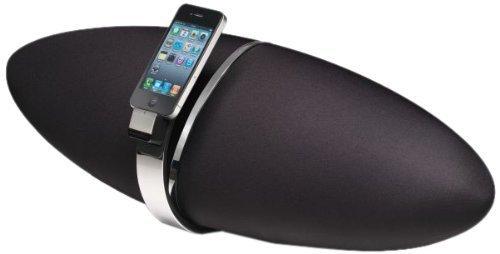 B&W Zeppelin Air Soundsystem für Apple iPod/iPhone (Wireless Apple AirPlay-Technologie) glanzschwarz