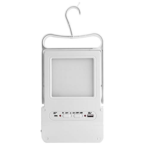QIRG Luz de energía Solar, luz LED, Ajuste de una tecla, Interfaz USB Universal de 5 V, Ahorro de energía, Camping, Senderismo, Emergencia para teléfonos móviles, hogar, Exteriores