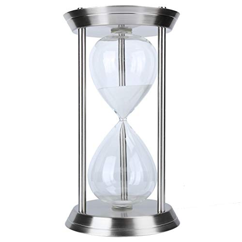 Timer a Clessidra, Clessidra 60 Minuti Sand Timer Vintage Metal Sand Clock Stand Clessidra, per casa, scrivania, Ufficio