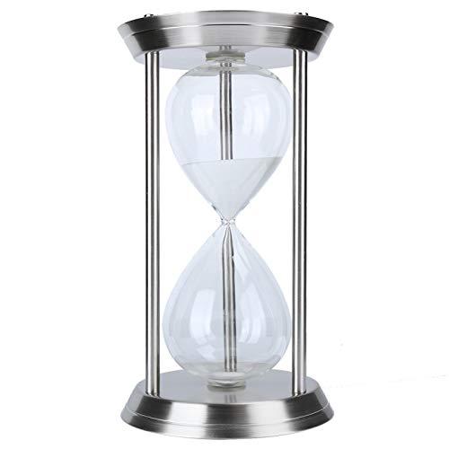 Temporizador de reloj de arena de 60 minutos, reloj de arena con temporizador de arena para el hogar, oficina, escritorio, mesa, estante para libros, decoración, regalo de adorno