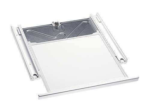 Miele Original Zubehör WTV 407 Wasch-Trocken-Verbindungssatz / für sichere und platzsparende Aufstellung einer Wasch-Trocken-Säule / integrierte Arbeitsplatte / 4 cm hoch / Lotosweiß