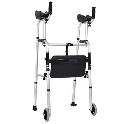 QYHT Leichtgewichtrollatorfaltbar,Rehabilitationswanderer,Höhenverstellbar, Leichter, Ergonomisches Design, multifunktionaler Walker, sicher und sicher für ältere Menschen und Behinderte