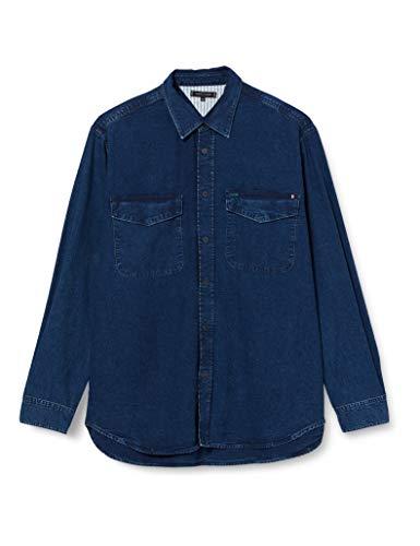 Tommy Hilfiger Denim Shirt Rgd Tripp Indigo Camisa, S para Hombre