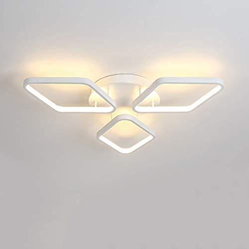 Plafondlamp slaapkamer plafondlampen, 40 w led plafondlamp kroonluchter verlichting armatuur voor woonkamer, badkamer, keuken, slaapkamer, 50 cm breed 50 cm diep 10 cm hoog