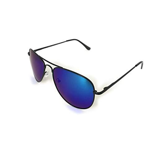 Gafas de sol estilo aviador clásico unisex todo el tiempo moda negro, azul y dorado lente UV 400 protección del piloto preferido