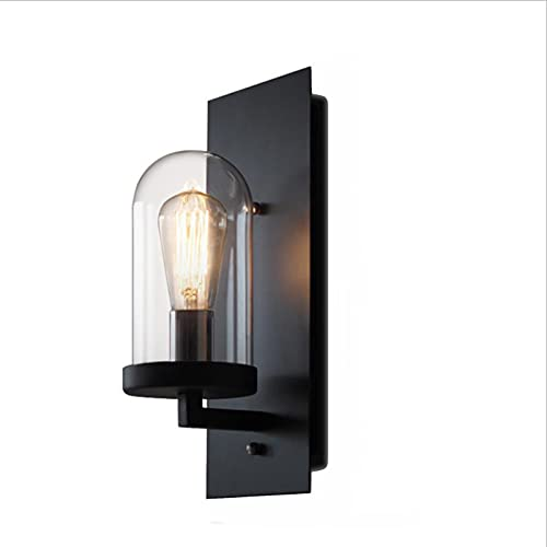 SXYRN Lámpara de Pared Interior Montaje en Pared Pantalla de Vidrio Aplique de Pared Vintage No Incluye Bombilla Conector E27 Lámpara de Pasillo