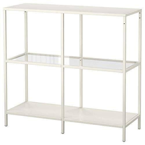 IKEA VITTSJO Regal 103.058 weiß Glas