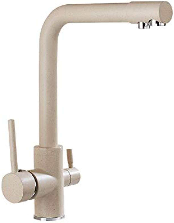 Küchenarmaturen Haferflocken Heien Und Kalten Küche Wasserfilter Wasserhahn Waschbecken Wasserhahn Drehen Doppeltes Wasser