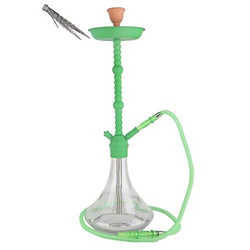 LJYTSY Shisha Hookah Cafe Style Egipcio Hookah con 1 Manguera y 1 Alicates de Carbón, Oriental Cachimba, Pipa de Tabaco Narguile Manguera Lavable para Bar Fiesta de Discoteca (Sin Nicotina)