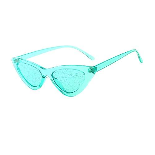 Preisvergleich Produktbild Qmber Sonnenbrille Nerdbrille Nerd Retro Look Brille Pilotenbrille Vintage Look verschiedene Modelle Viele Farben / Green