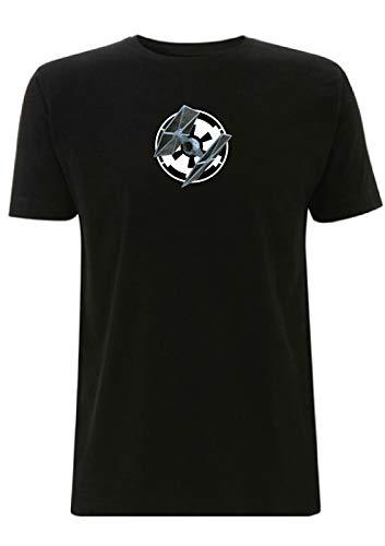 Tie Fighter Heren T-Shirt Star Wars Space Ship Empire slaat terug Logo Grafisch Vliegtuig