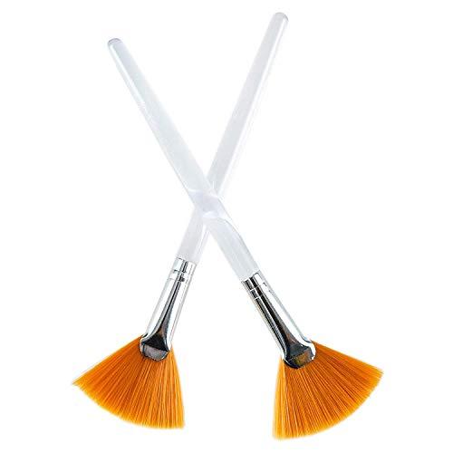 Fciqven 4 Pcs Facial Brushes Fan Mask Brush,Soft Makeup Brushes Cosmetic Tools for Peel Mask Makeup