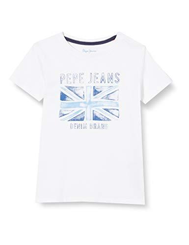 Pepe Jeans Anton Camiseta, Blanco (Optic White 802), 4-5 años (Talla del Fabricante: 4) para Niños
