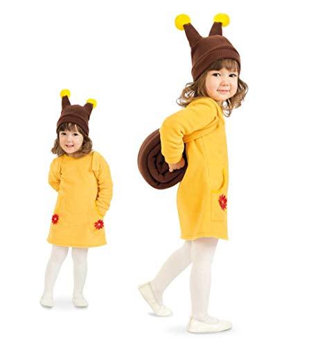 KarnevalsTeufel Tierkostüm für Kinder Schnecke Waldtier Kleid mit Mütze (104)