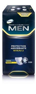 Tena, Men Level 2 - Assorbenti da uomo, fino 320 ml, 6 confezioni da 20