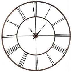 CC Home Furnishings Gigantic 50 Open Design Classical Roman Numeral Wall Clock