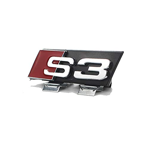 D28JD Emblema Logo per la griglia del radiatore Lettere ABS Cover Adesiva Personalizzata per A-UDI A4L A6L A3A5A8S4S5S6,S3