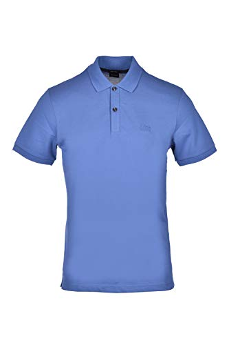 Hugo Boss Poloshirt Regular Fit aus Piqué Baumwolle Pima, Blau X-Small