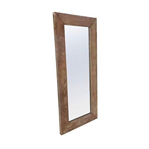 Adec - Pixie, Espejo Rectangular, Espejo de Pared, Marco de Madera de Pino Reciclado, Medidas: 180 cm (Alto) x 80 cm (Ancho) x 5 cm (Fondo)