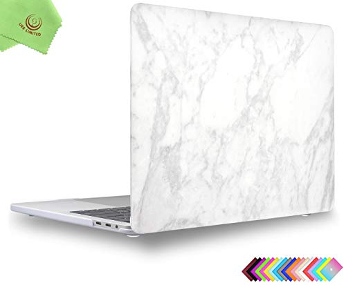 UESWILL MacBook Pro 13 inch Case 2020 Release A2289 A2251, Marble Pattern Hard Shell Case Cover for MacBook Pro 13 inch, 2/4 Thunderbolt 3 ports (USB-C), White