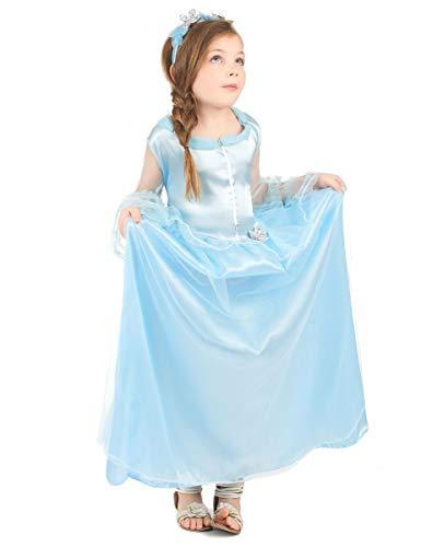 Generique - Déguisement Princesse Bleue Claire Fille L 10-12 Ans (130-140 cm)