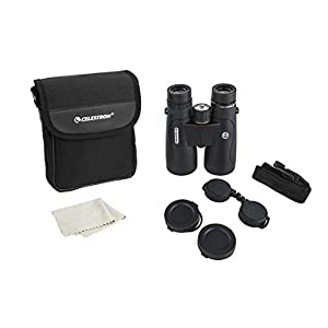 Celestron 72332 – Nature DX ED 8x42 Premium Binoculars – Extra-Low Dispersion (ED) Objective Lenses – Multi-Coated Optics –Phase-Coated BaK-4 Prisms – Binoculars for Bird Watching, Black