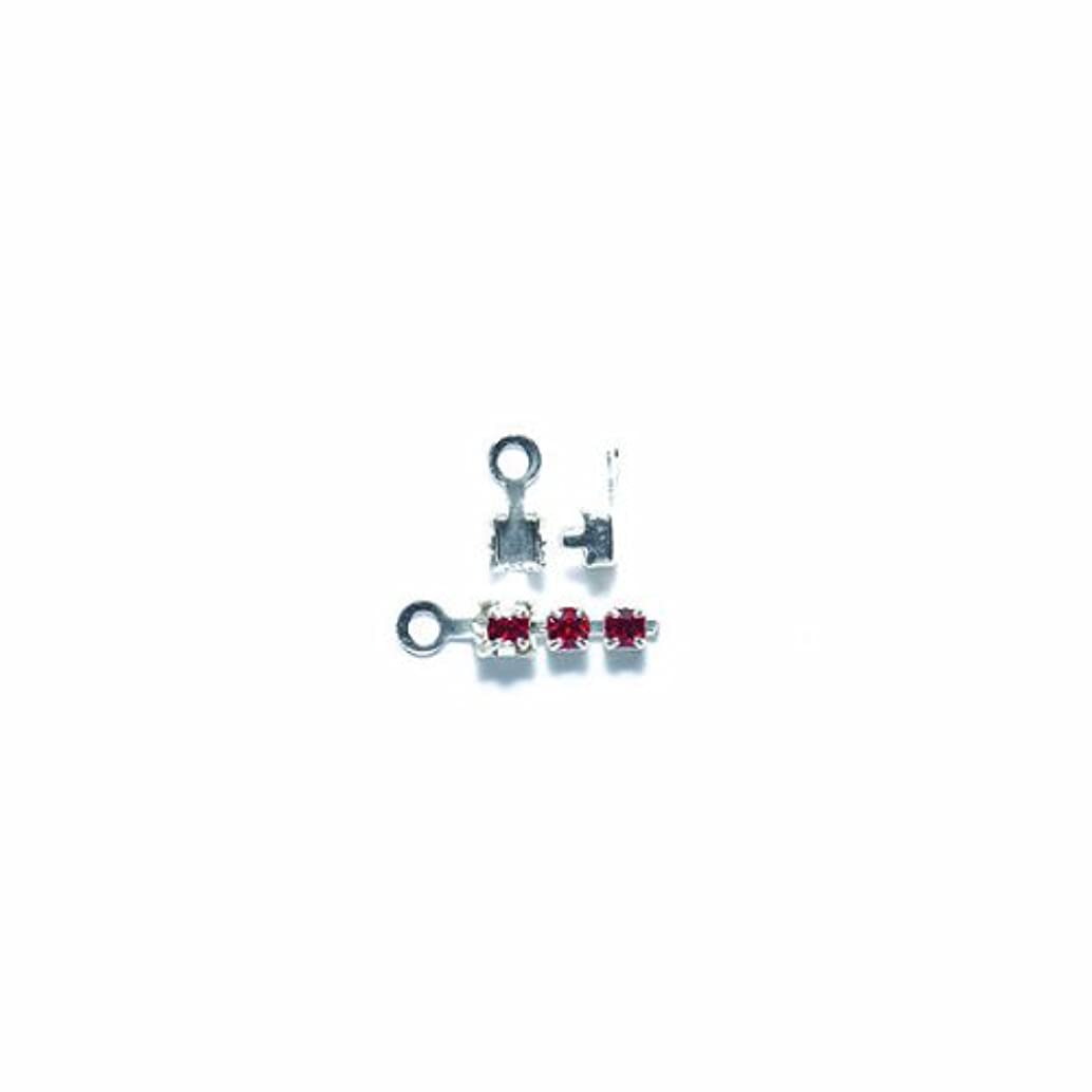 Shipwreck Beads Brass End Finding with Loop, Metallic, Silver, 150-Pack