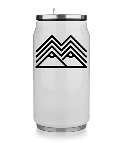 KRISSY Twin Peaks TV Show Series Minimalistic Art Mountains White and Black Thermobecher Thermal Beverage Can Thermotasse Thermal Tasse Coffee Mug
