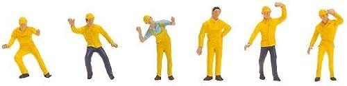 moda HO HO HO Scale Industrial Workers -- 6 Men by Faller  seguro de calidad