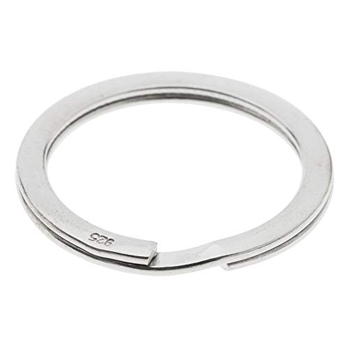 Dreambell 925 Sterling Silver 29mm Round Split Ring Flat Wire Key Ring Charm Holder Connector