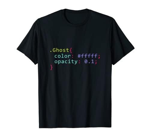 fantasma en formato CSS Cdigo para programadores Camiseta