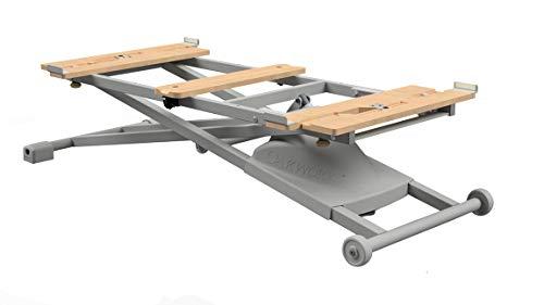Oakworks Proluxe Convertible, Electric Massage Table Lift, Adjustable Scissor Lift for Portable Massage Beds- Grey