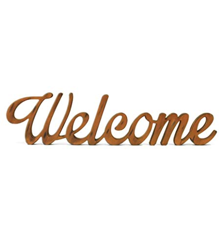 oferta letras welcome decorativas madera 70x3x18