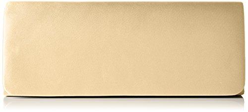Berydale Clutch de satén para mujer,bandolera con cadena adicional, Dorado (Gold), 26x11x6 cm (B x H x T)