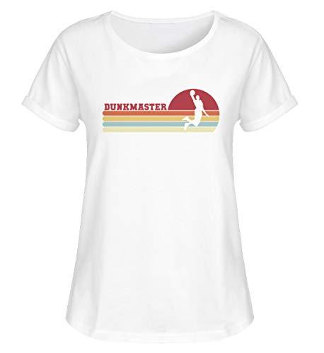 Camiseta retro de baloncesto de Dunk, para mujer Blanco XXL