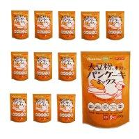 オレンジページまめ部監修 大豆粉と米粉のパンケーキミックス200g×12個【まとめ買い】