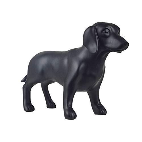 MHSXHXY Sculpture Dog Statues Decoration Nordic Decoration Home Office Tabletop Decoration Accessories Desktop Decor (11.02 * 4.13 * 7.48 Inch)