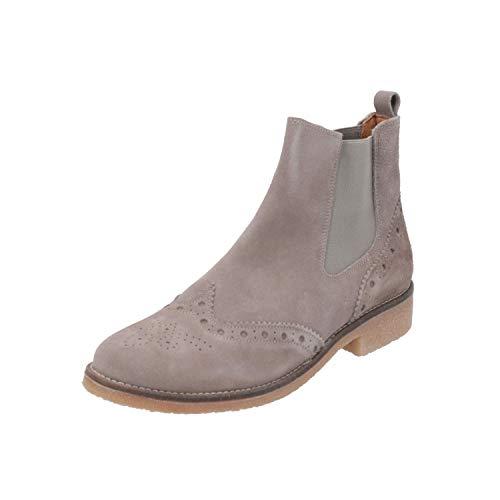 SPM Valla Damen Stiefel Grau Schnür-Stiefelette Winter, Größe:EUR 42