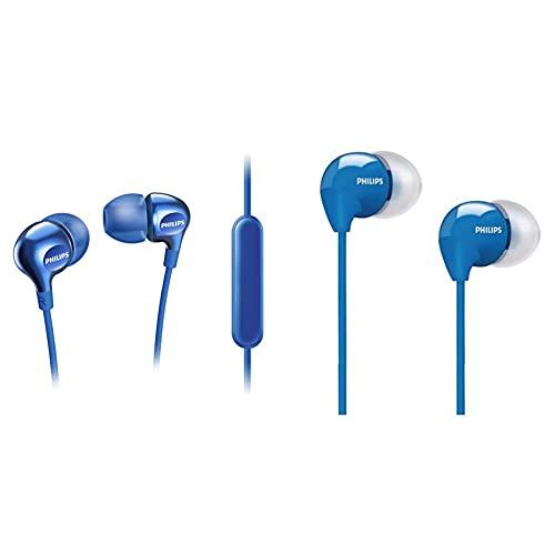 Philips Vibes She3705Bl - Auricualres In-Ear, Color Azul + She3590 - Auriculares In-Ear, Azul