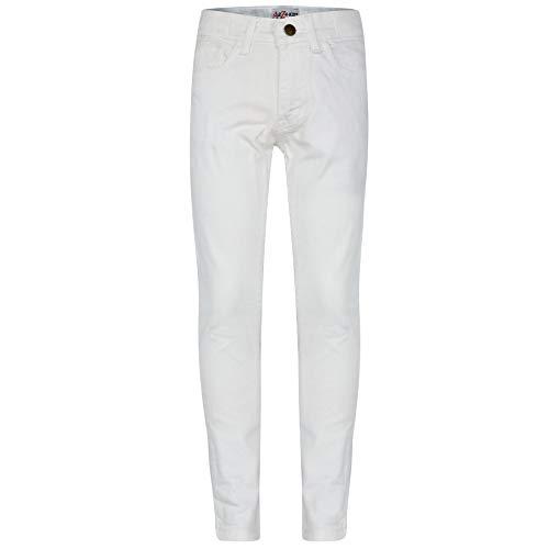 A2Z 4 Kids Bambini Ragazze Skinny Jeans Bianco Progettista - Girls Jeans JN25 White_9-10