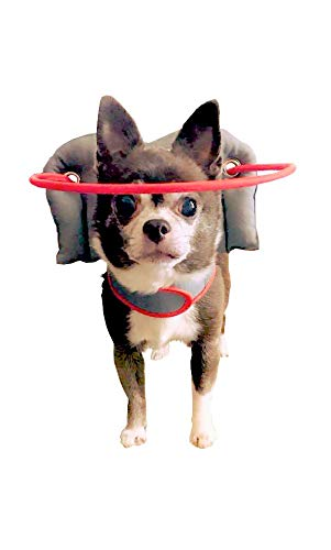 Muffin's Halo Blind Dog Harness Guide Device – Help for Blind Dogs to Avoid Accidents & Build Confidence – Ideal Blind Dog Accessory to Navigate Surroundings. (XS, Gray)